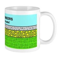 Civil Engineers green & blue Mug