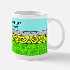 Civil Engineers green & blue Mug
