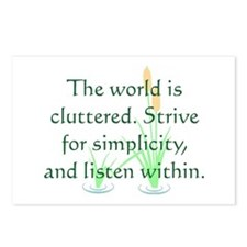 Strive for Simplicity Postcards (Package of 8)