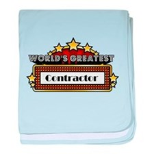 World's Greatest Contractor baby blanket