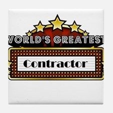 World's Greatest Contractor Tile Coaster