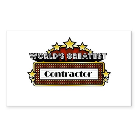 World's Greatest Contractor Sticker (Rectangle)