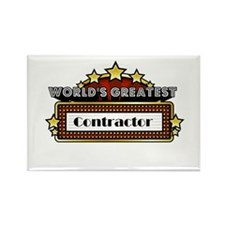 World's Greatest Contractor Rectangle Magnet