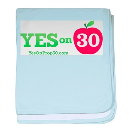 Yes On Prop 30 baby blanket