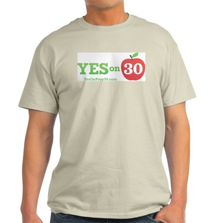 Yes On Prop 30 Light T-Shirt