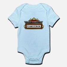 World's Greatest Court Clerk Infant Bodysuit