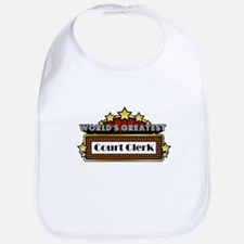 World's Greatest Court Clerk Bib