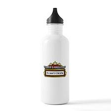 World's Greatest Court Clerk Water Bottle