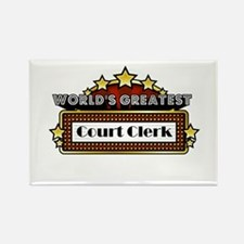 World's Greatest Court Clerk Rectangle Magnet