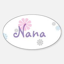 Nana Flowers Sticker (Oval)