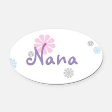 Nana Flowers Oval Car Magnet