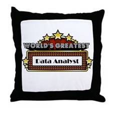World's Greatest Data Analyst Throw Pillow