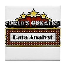 World's Greatest Data Analyst Tile Coaster