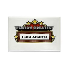 World's Greatest Data Analyst Rectangle Magnet