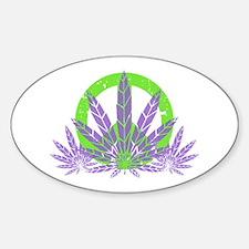 Peace With Purple Sticker (Oval)