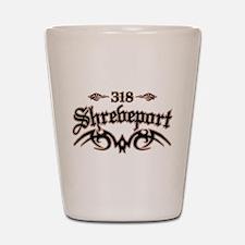 Shreveport 318 Shot Glass