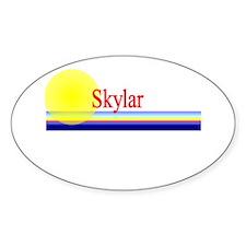 Skylar Oval Decal