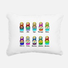 Nesting Dolls Rectangular Canvas Pillow