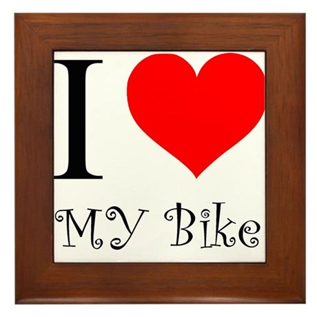 I Love my bike Framed Tile
