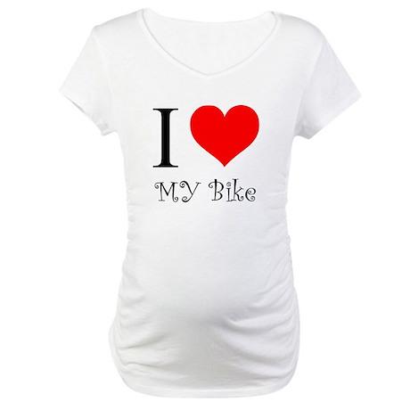 I Love my bike Maternity T-Shirt