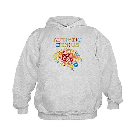 Autistic Genius Brain Kids Hoodie