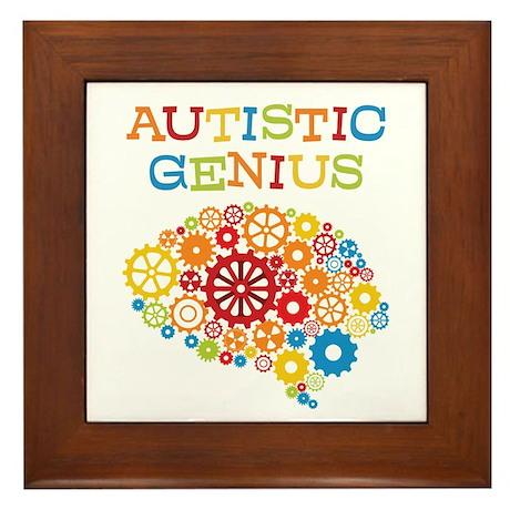 Autistic Genius Framed Tile