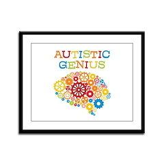 Autistic Genius Framed Panel Print