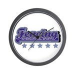 Fencing Team Spirit Wall Clock