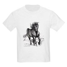 Coming Through horse kids teeshirt