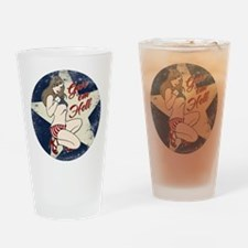 GIVE 'EM HELL PIN-UP Drinking Glass