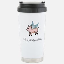 Flying Pig Stainless Steel Travel Mug