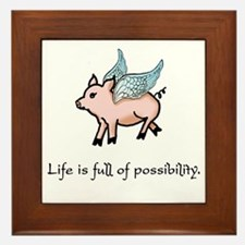 Flying Pig Framed Tile