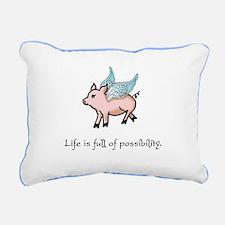 When Pigs Fly Rectangular Canvas Pillow