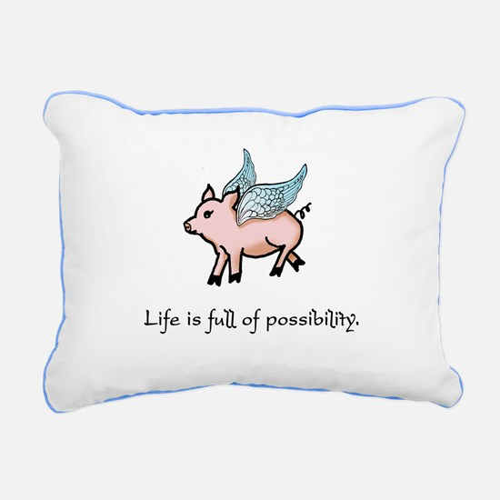 When Pigs Fly Rectangular Canvas Pillow