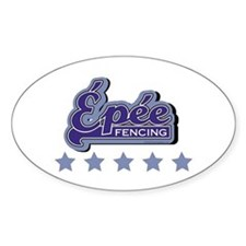 Epee Fencing Oval Decal