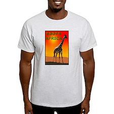 Giraffe South Africa Ash Grey T-Shirt