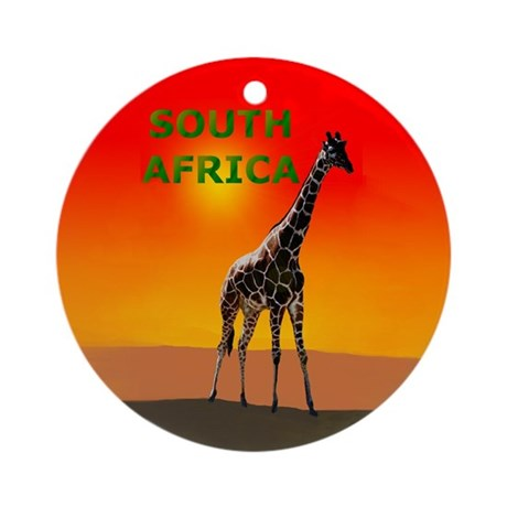 Giraffe South Africa Ornament (Round)