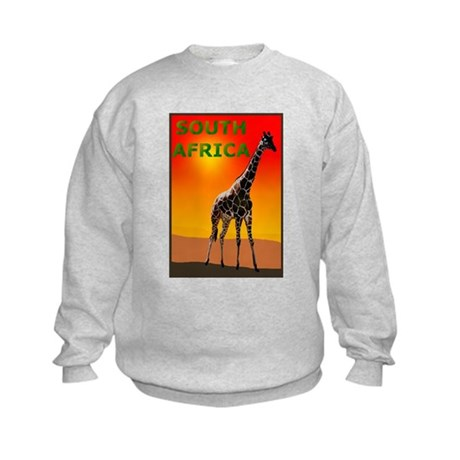 Giraffe South Africa Kids Sweatshirt