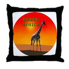 Giraffe South Africa Throw Pillow