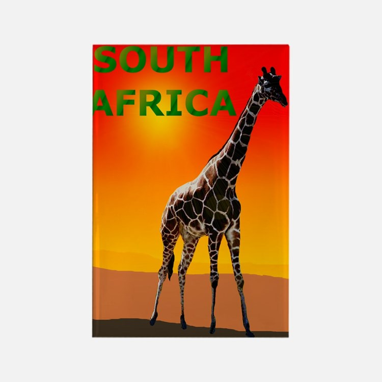 Giraffe South Africa Rectangle Magnet