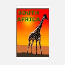 Giraffe South Africa Rectangle Decal