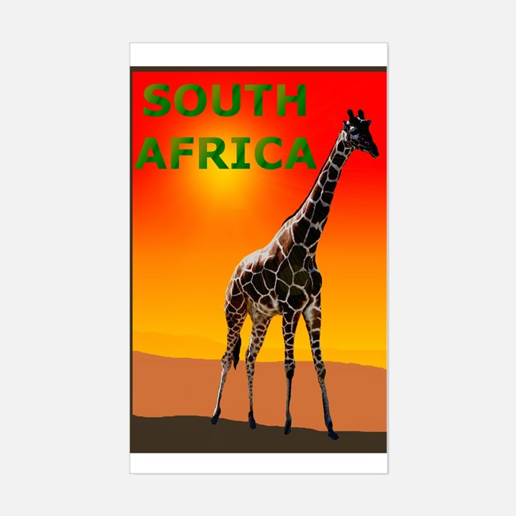 Giraffe South Africa Rectangle Decal