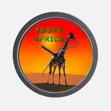 Giraffe South Africa Wall Clock