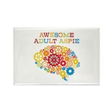Awesome Adult Aspie Rectangle Magnet