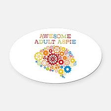 Aspie Adult Autism Oval Car Magnet