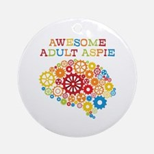Aspie Adult Autism Round Ornament