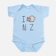 I Heart NZ - Cute Sheep Infant Bodysuit