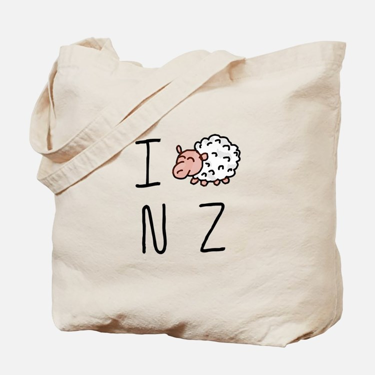 I Heart NZ - Cute Sheep Tote Bag