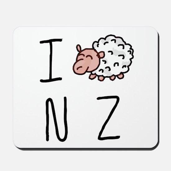 I Heart NZ - Cute Sheep Mousepad