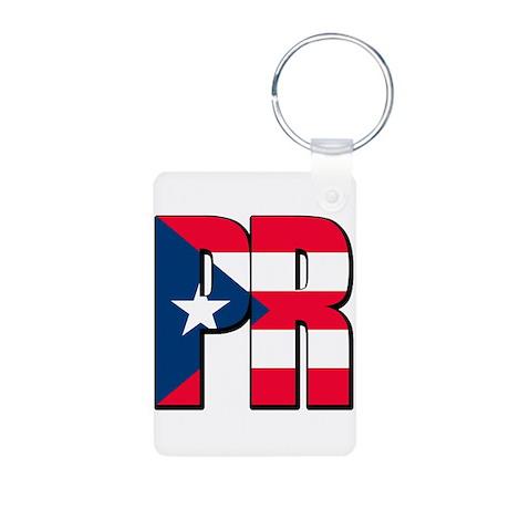 Puerto Rican pride Aluminum Photo Keychain